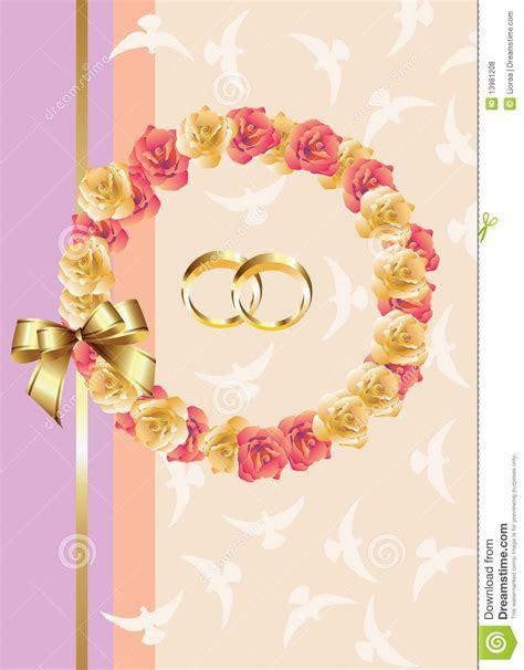 Wedding Invitation/greeting Card Stock Illustration