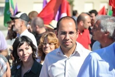 """""""Prosseguir o caminho da austeridade é insistir no erro"""", diz Pedro Filipe Soares. Foto Paulete Matos."""