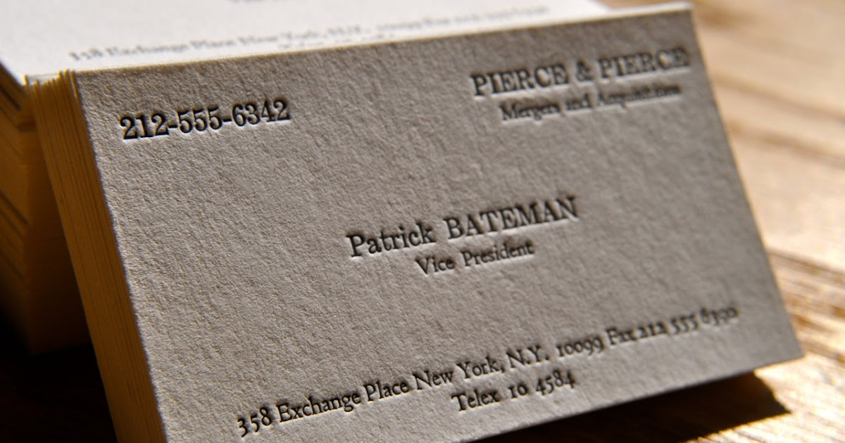 PPP: American Psycho business card scene