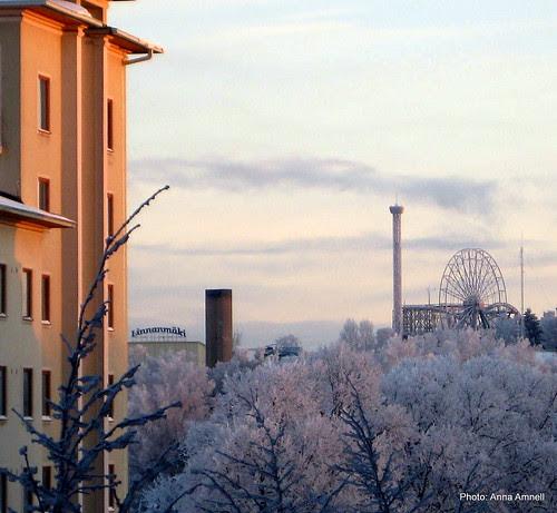 Linnanmäki talvella by Anna Amnell