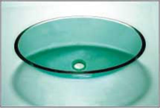 Glass Vessel Bathroom Sink Wx8020 Round Green Kpaxinc