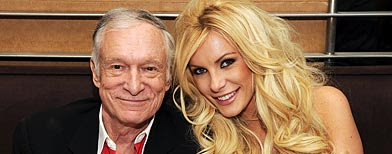 Hugh Hefner and Crystal Harris (Denise Truscello/WireImage)