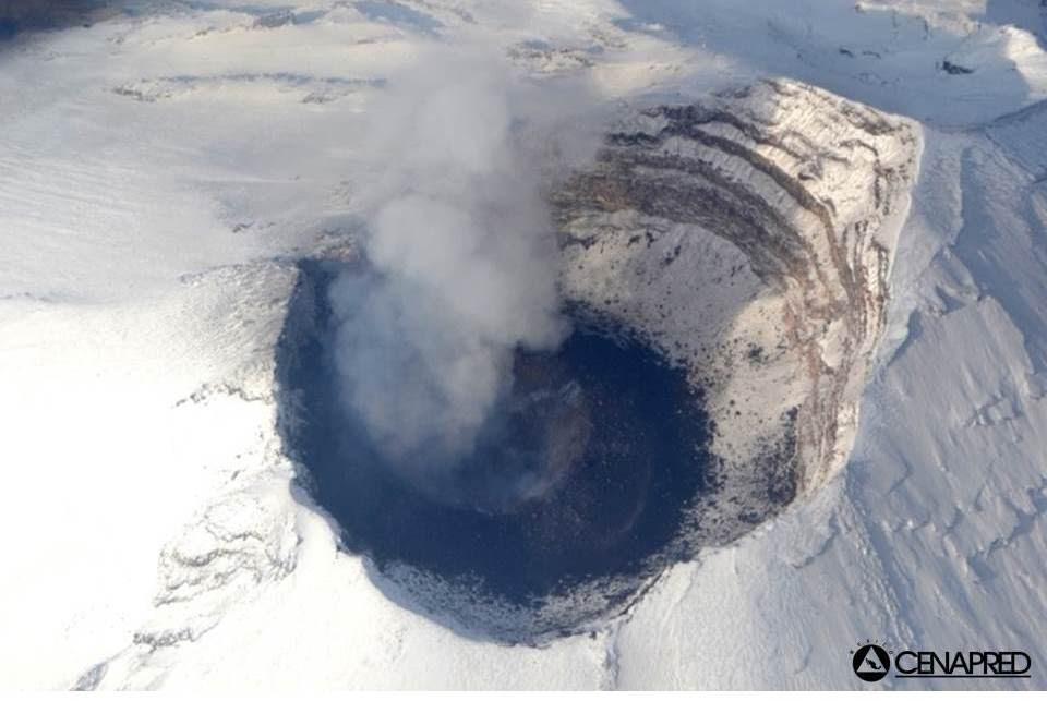 Le cratère du volcan Popocatepetl