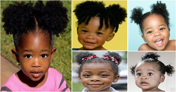 Les Pompons Coiffure Pour Petites Filles Noires Et