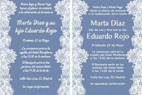 spanish wording  invitations    wedding
