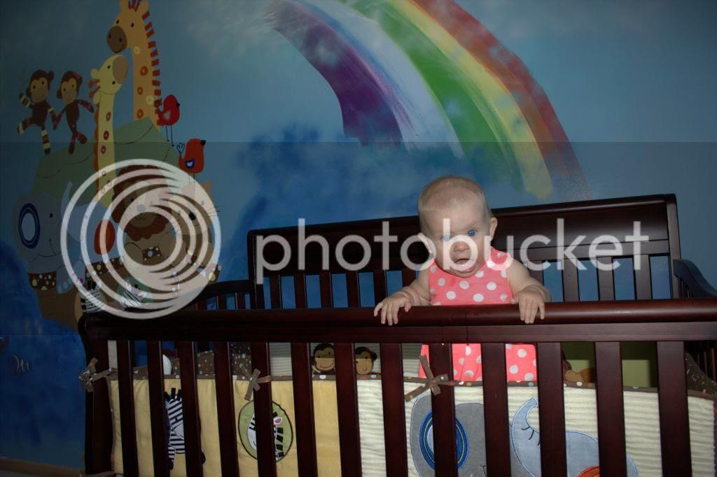 noah's ark nursery mural