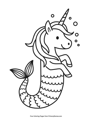 griffthispage unicorn seahorse coloring page