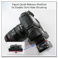 PJ1032: Tripod Quick Release Modified for Double Blind Hole Mounting