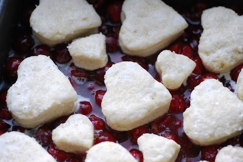 Sour cherry cobbler is love