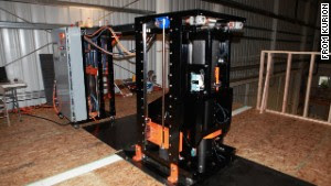 It doesn\'t look like much, but this refrigerator-sized robot may help plug a dangerous leak at the crippled Fukushima nuclear plant in Japan.