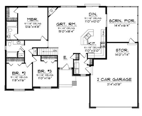 elegant simple open floor plan homes  home plans design