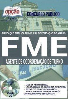 Apostila Prefeitura de Niterói - Concurso FME 2016 - AGENTE DE COORDENAÇÃO DE TURNO