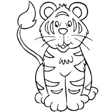 free printable tiger coloring pages at getcolorings