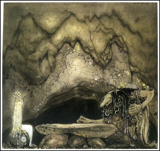 John Bauer - So, how is your appetite, troll mother continued, 1915