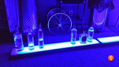 Diy Lighted Bar Shelves Jessie Shiver Blog