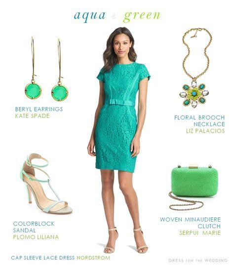 Aqua and Green Dress for a Wedding Guest