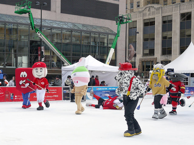 Fountain square Broomball