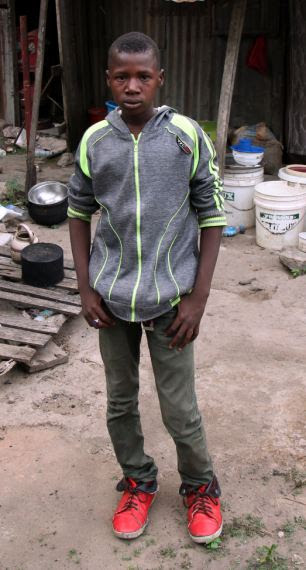 Saviour: 15-year-old Baba Goni helped find two of the schoolgirls