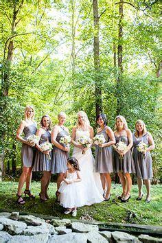 black suits and grey bridesmaid dresses   grey bridesmaid