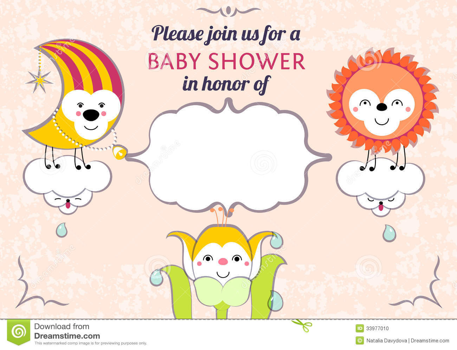 Baby Shower Invitation Card Editable Template Funn Stock Photo ...