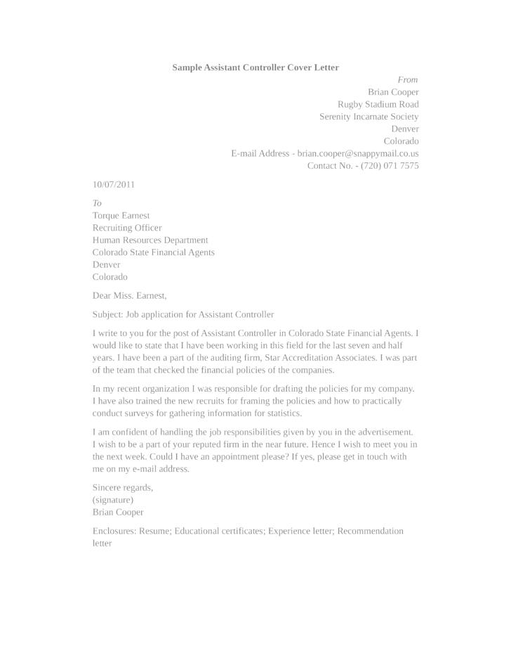 Image Result For Application Letter Financial