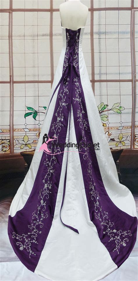 Emily Purple And White Wedding Dresses