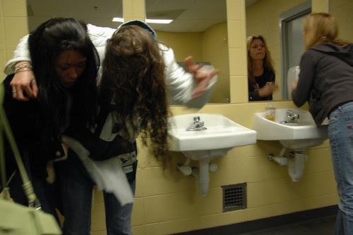 drunk woman in bathroom at linc 2 web