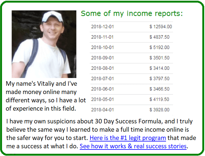 30 day success formula alternative
