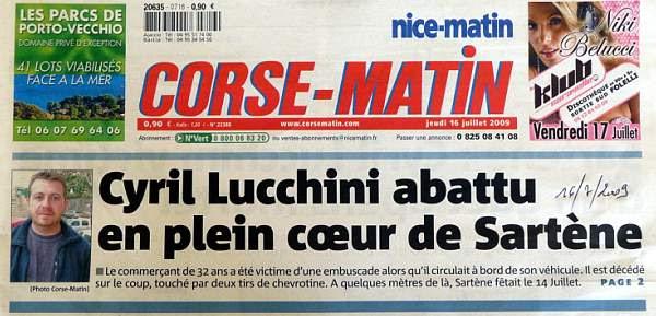 Assassinat Lucchini Cyril