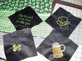 St Pat's tablecloth corners
