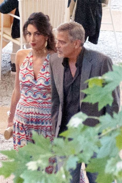 amal clooney spotted   valentino dress   villa