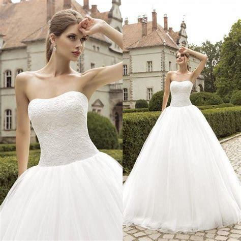 Strapless Wedding Dresses Plus Size 2015 Cheap Lace