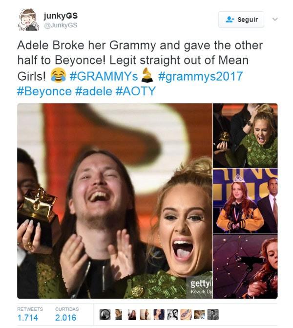 Adele x Meninas Malvadas (Foto: reprodução/ Twitter)