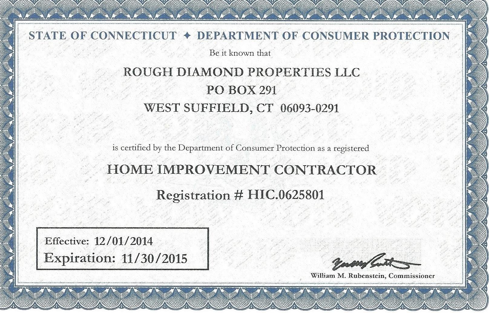Rough Diamond Properties Licences