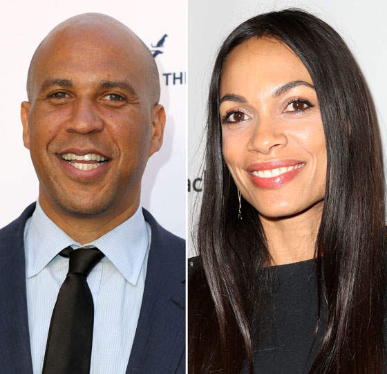 Dlisted Cory Booker And Rosario Dawson Have Supposedly Been Dating