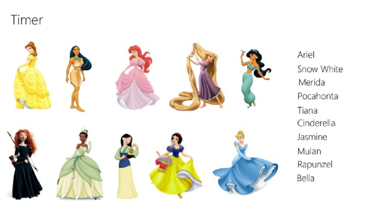 Match the Disney Pricesses for Windows 8 and 8.1