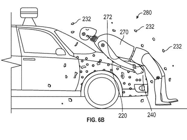 Desenho mostra patente do Google para carros (Foto: Reprodução)