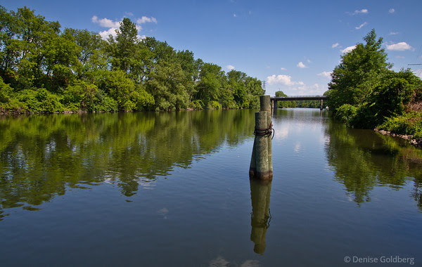 along the barge canal