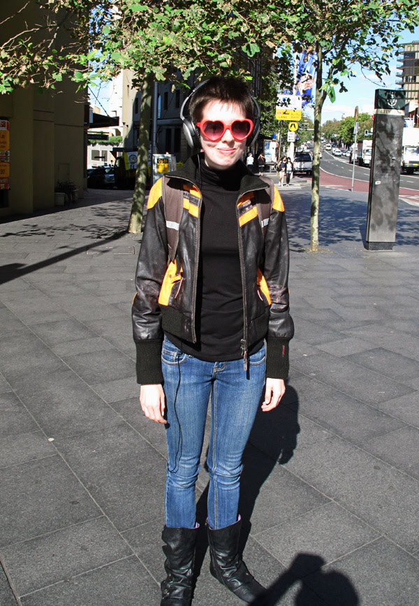 Lolita Sunglasses & Leather Jacket Sydney