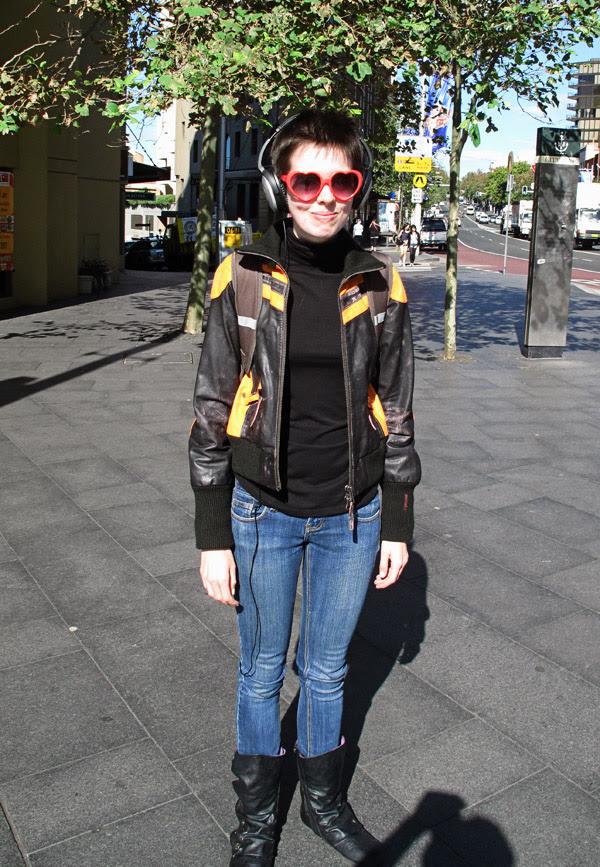 Lolita Sunglasses & Leather Jacket Sydney