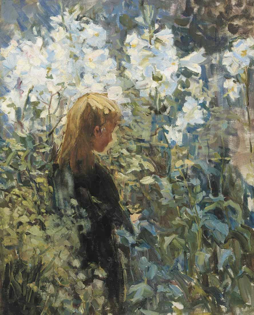 Easter lilies, 1907, Helen Galloway McNicoll. American (1879 - 1915)