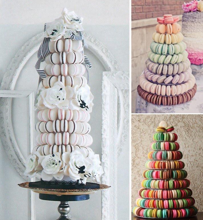 Tasty Wedding Cake Alternatives for a Unique Reception Macaron Tower