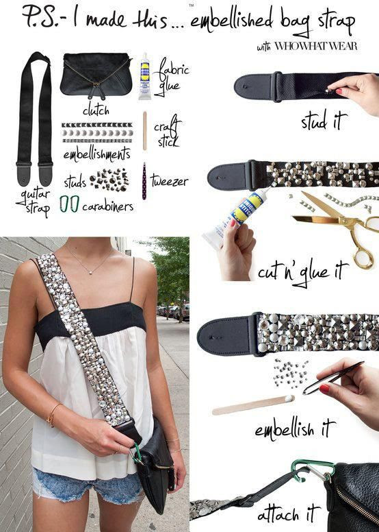 Would be fun to do with a thrift store/garage sale bag.  My Fashion Sketchbook: Fashion DIY