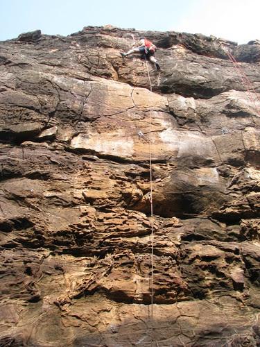 Badami Rock Climbing Lead