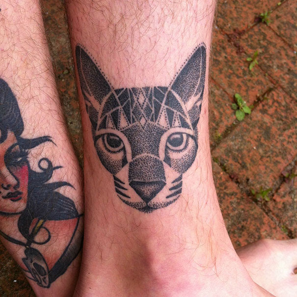 100 Minimalistic Cat Tattoos For Cat Lovers   Architecture ...