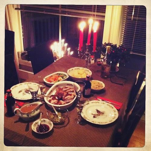 x-mas eve's dinner