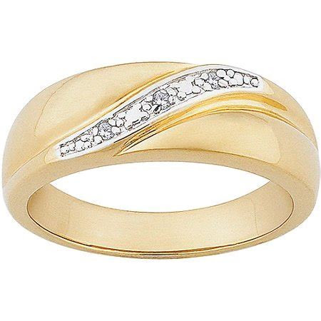 Men's Diamond Accent 14kt Gold over Sterling Silver