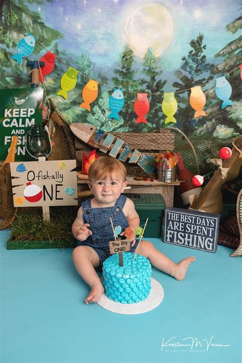 Joshua   Fishing Cake Smash   CT Cake Smash Photographer