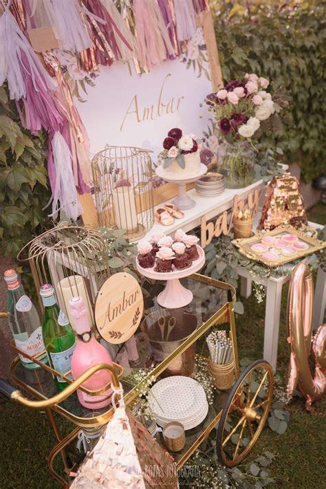 Burgundy, Blush & Gold Boho Baby Shower (kara's party