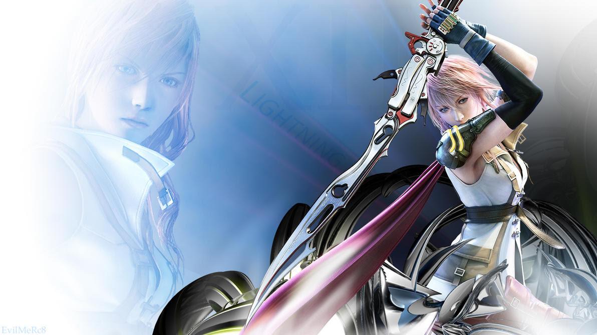 Final Fantasy Free Hdw Allpaper Final Fantasy 13 Lightning Wallpaper